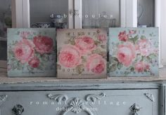My nrew Shabby French Chic Roses Signs available at www.debicoules.com