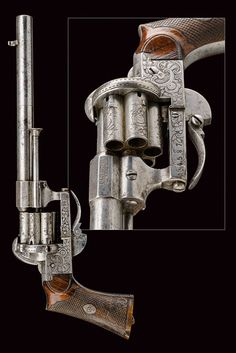 A fine Lefaucheux pin-fire revolver:    provenance: France dating: third quarter of the 19th Century