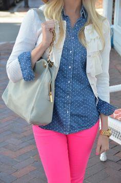 neon pink pants