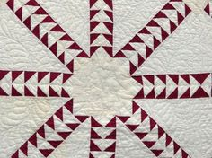 "Detail, C. 1900's flying geese quilt. 68"" x 78"", Copake Auction, Live Auctioneers"