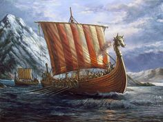 The origins and usage of the Norse longboats. A top of the three main Viking ves… – Norse Mythology-Vikings-Tattoo Viking Shield, Viking Warrior, Saint John, Viking Longboat, Viking Books, Norwegian Vikings, Viking Life, Old Boats, Norse Vikings
