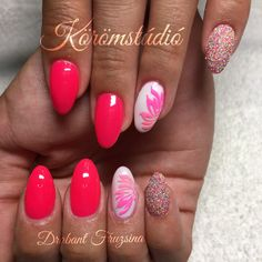 #nails #nail #műköröm #mukorom #műkörmös #géllakk #gellakk #gellac #nailart #naildesign #summernails #summer #neon #neonnails #pink #pinknails