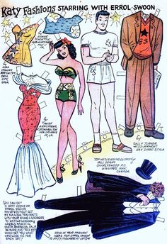 Vem vill inte leka med klippdockor om man får seriefigurer som Katy Keene och Errol Swoon att leka med?!