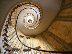 Wendeltreppe by Arthur Brunner, via 500px - How can all this stone and metal be this ethereal?