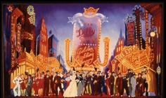 Scenic design sketch by Tony Walton for the Broadway revival of Guys and Dolls, 1992.