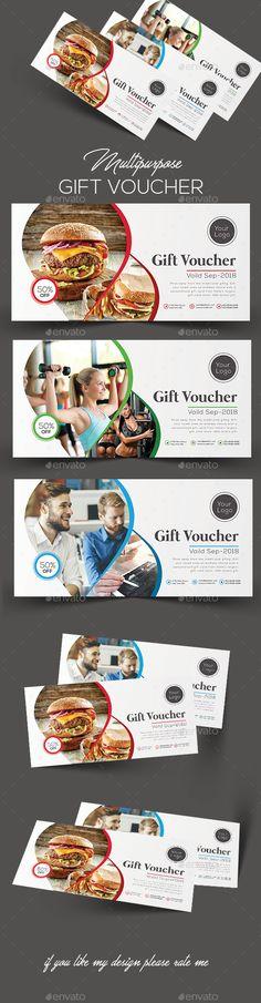 #Gift #Voucher - Cards & Invites Print Templates Download here: https://graphicriver.net/item/gift-voucher/20287302?ref=alena994