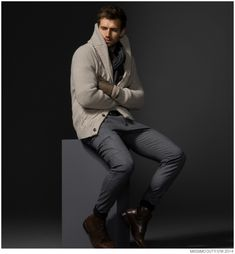 Andrew Cooper Models Limited Edition Styles from Massimo Dutti Fall 2014 5th Avenue Collection image Massimo Dutti Fall Winter 2014 NYC 5th Ave Collection 001 800x864