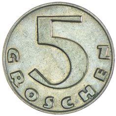 5 Groschen 1937 Austria, Coining, Youth, Basteln