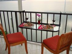 Amazon.com: Terrace Table (Black) - Folding Balcony Table Balcony Bar: Patio, Lawn & Garden