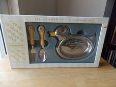 2006 Reed & Barton 3pc. Something Duckie Bowl & Flatware Set - Other