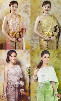 khmer wedding costume Cambodian Wedding, Khmer Wedding, Wedding Costumes, Wedding Outfits, Wedding Dresses, Thai Traditional Dress, Traditional Wedding, Thai Dress, Custom Clothes