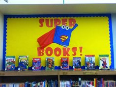 Superhero classroom theme - Superhero Themed Classroom Ideas, Photos, Tips, and More – Superhero classroom theme Library Themes, Library Book Displays, Classroom Displays, Classroom Themes, Library Ideas, Class Library, Classroom Organization, Superhero School Theme, Superhero Books
