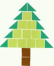 accurately measure squares and draw to create this christmas tree Christmas Crafts For Toddlers, Toddler Crafts, Holiday Crafts, Thanksgiving Preschool, Alternative Christmas Tree, Shape Crafts, Theme Noel, Kindergarten Art, Noel Christmas