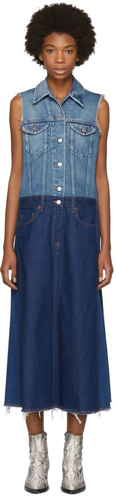 MM6 Maison Margiela - Blue Sleeveless Denim Dress