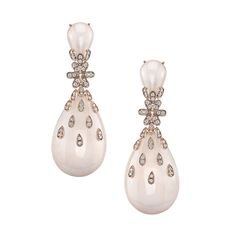 Carla Amorim pearl and diamond earrings from the
