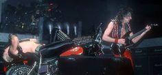 Rob Halford and Glenn Tipton, Judas Priest - Metal Conqueror Tour, 1984.