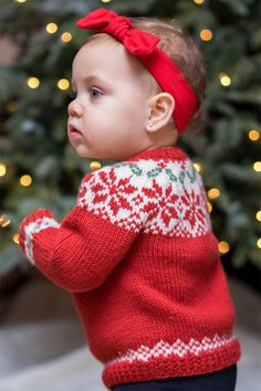 Holiday Wear Knitting Patterns - In the Loop Knitting Baby Sweater Patterns, Baby Patterns, Knit Patterns, Knitting For Kids, Free Knitting, Knitting Projects, Fair Isle Knitting Patterns, Christmas Knitting Patterns, Brei Baby