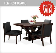 This brand new dining room set will make any get together or tailgate more edgy! #PerfectTablegate