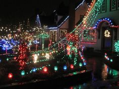 Peacock Lane In Portland, Oregon. [If you're anywhere nearby this Christmas, be sure to see this neighborhood of lights and decorations.]