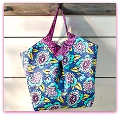 Elizabeth Floral Tote - Free PDF Sewing Pattern from Make It Coats