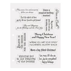 christmas card sayings clear stamps orientaltradingcom christmas card verses christmas sentiments