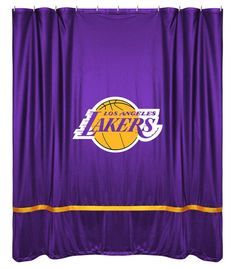 Los Angeles Lakers NBA Sports Coverage Team Color Shower Curtain Sidelines #SportsCoverage
