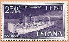Sello Ifni de 25+10 céntimos, Día del Sello, 1961 - Portal Fuenterrebollo
