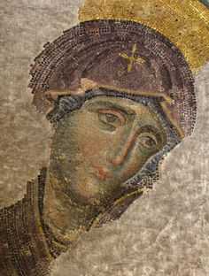 The Theotokos. Detail from the Deesis Mosaic, Hagia Sophia.