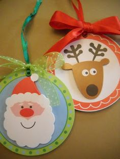 Craft Goodies: Day 4- Gift Tag Ornaments