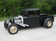 Learn more about 1932 Ford Hot Rod Truck on Bring a Trailer, the home of the best vintage and classic cars online. Rat Rod Trucks, Rat Rod Pickup, Old Ford Trucks, Cool Trucks, Cool Cars, Pickup Trucks, Diesel Trucks, Truck Drivers, Dually Trucks