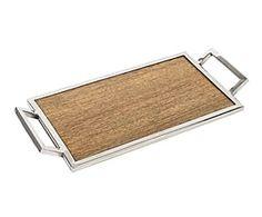 Bandeja de acero y madera de roble II - natural