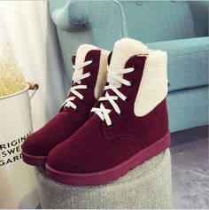 Fashion Winter Warm Snow Boots Cotton Shoes