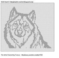 Free Filet Crochet Charts and Patterns: Filet Crochet Wolf - Chart 2