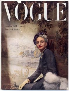 British Vogue September 1948 London Collections, Furs and Fabrics, Cecil Beaton