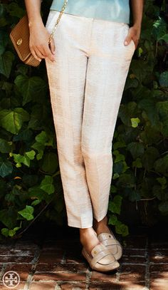 Create one long line — add nude flats: Tory Burch Evette Loafer.