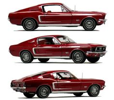 1968 Ford Mustang GT.