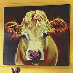 Cow Canvas - oh man I love this... JUST ORDERED IT!