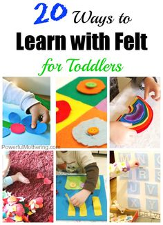 20 Ways to Learn with Felt for Toddlers #kids #play