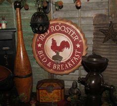 Primitive Antique Vtg Style Retro Americana Rooster Bottle Cap Opener Sign Tin #NaivePrimitive