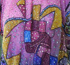 Rare 1990 Gianni Versace Atelier Beaded Dress Tunic image 3