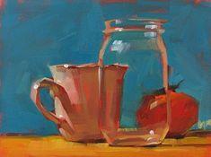 "Daily Paintworks - ""Jarring --- SOLD"" - Original Fine Art for Sale - © Carol Marine"