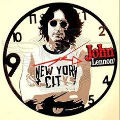 VINYL WALL CLOCK JOHN LENNON