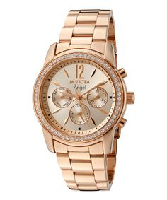Rose Gold Studded Angel Bracelet Watch Angel e02947cec64