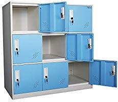 Mecolor Petit Casier De Bureau En Metal Casiers En Metal Pour Espace De Bureau Casier Pour Employe Metal Bleu Armoire Bureau Bureau Metal Casier Rangement