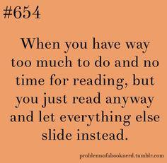 I always make time for reading!