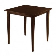 Groveland Square Dining Table Shaker Leg Antique Walnut Finish