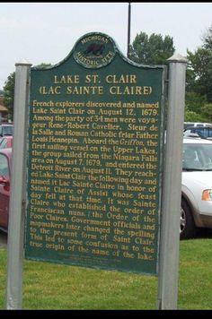 History St Clair Shores. Michigan