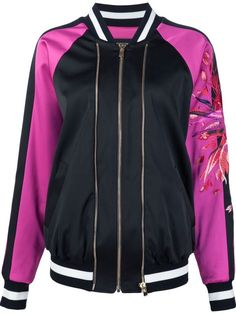Alexandre Vauthier embroidered sleeve bomber jacket - $6,910.00