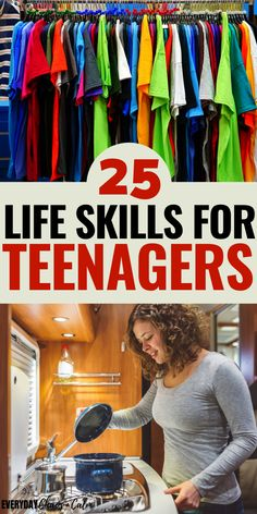 25 of the most important life skills teens need to know before they leave home to live on their own or go to college. Raise responsible adults by teaching your teen these life skills. Life Skills Kids, Life Skills Lessons, Teaching Life Skills, Life Skills Activities, Family Activities, Raising Teenagers, Parenting Teenagers, Kids And Parenting, Parenting Hacks