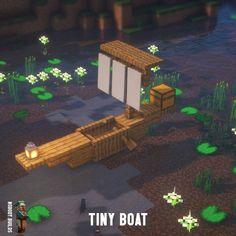 Voici une idée de construction pour réaliser un petit bateau vraiment sympa ! #Minecraft Minecraft Bauwerke, Construction Minecraft, Casa Medieval Minecraft, Minecraft Welten, Images Minecraft, Minecraft Mansion, Minecraft Cottage, Cute Minecraft Houses, Amazing Minecraft